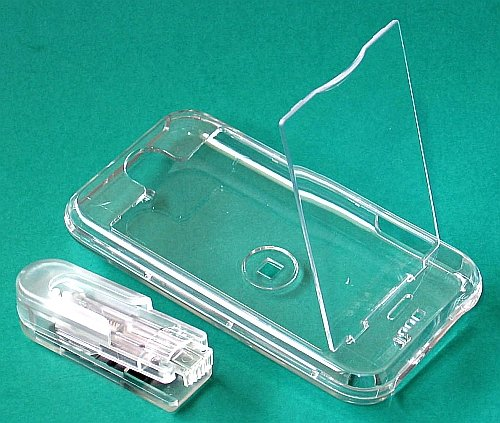 iphone Hard Crystal Clear Case (Clear)  + Belt Clip