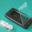 iphone Hard Crystal Clear Case (Black) + Belt Clip