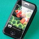 Iphone Hard Crystal Clear Case (Grey- Black) + Belt Clip