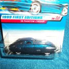 Hot Wheels 1999 38 Phantom Corsair First Editions Collectors # 656 Blue Variant