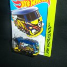 Hot Wheels 2014 Volkswagen Kool Kombi Bus Blue Workshop