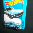 Hot Wheels 2014 1967 Custom Mustang Blue City