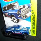 Hot Wheels 2014 1955 Chevy Bel Air Gasser Blue Workshop