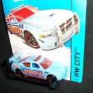 Hot Wheels 2014 Dodge Charger Drift City Police Light Blue