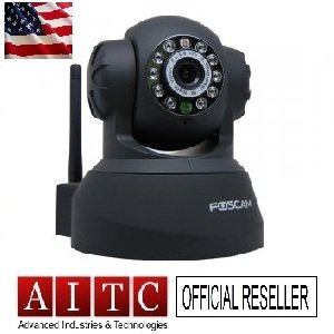 Foscam Indoor Wirelss IP Camera (FI8908W) -1XBlack (Tax+Free 48 hours USPS Priority Delivery)