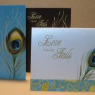 PEACOCK Feather~LOVE Never Fails~3 Colors Note Card Set