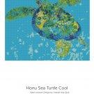 Cross Stitch Pattern Hawaiian Honu SEA TURTLE Cool Blue Green Ocean~ Digital PDF File For Printing