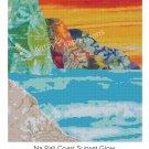 Cross Stitch Pattern Hawaiian Kauai NA PALI Coast Sunset Glow~ Digital PDF File For You To Print