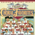 TREASURY OF CHORAL FAVORITES (4 CD) Reader's Digest Choirs Vocal Groups Hymns Faith
