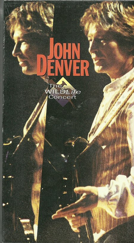 JOHN DENVER (VHS) THE WILDLIFE CONCERT Live Video Hits MINT