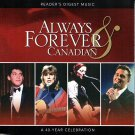 ALWAYS & FOREVER CANADIAN (4 CD) Pop Music Stars Reader's Digest Music