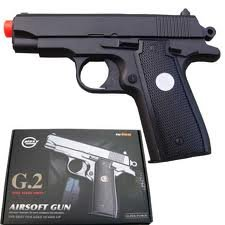 G2 FULL METAL SPRING airsoft pistol 230 FPS + BBs