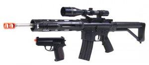 P1136 RIS M4 AIRSOFT SPRING RIFLE + FREE Pistol