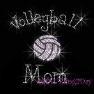 Volleyball Mom - C Rhinestone Iron on Transfer Hot Fix Bling Sports - DIY