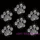 6 AB Clear Paw Print Rhinestone Iron on Transfer Hot Fix Bling - DIY