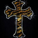Leopard Cross Rhinestone Iron on Transfer Hot Fix Bling - DIY