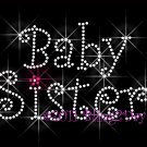 Baby Sister Rhinestone Iron on Transfer Hot Fix Bling Mom Kids - DIY