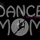 Dance MoM - Dancer Outline Clear Rhinestone Iron on Transfer Hot Fix Bling Sport - DIY