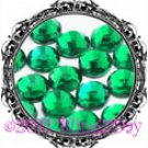 1440 3MM EMERALD Green Rhinestones Iron on Hot Fix 10 gross - 10ss ss10