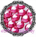 1440 3MM FUCHSIA Hot Pink Rhinestones Iron on Hot Fix 10 gross - 10ss ss10