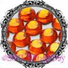 1440 3MM HYACINTH Orange Rhinestones Iron on Hot Fix 10 gross - 10ss ss10