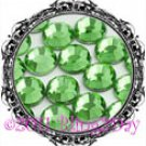 1440 3MM PERIDOT Lime-Green Rhinestones Iron on Hot Fix 10 gross - 10ss ss10