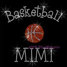 Basketball MIMI - C Rhinestone Iron on Transfer Hot Fix Bling Sports - DIY