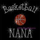 Basketball NANA - C Rhinestone Iron on Transfer Hot Fix Bling Sports - DIY