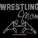 Wrestling Mom - New Rhinestone Iron on Transfer Hot Fix Bling Sports - DIY