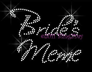 Bride's Meme - New Rhinestone Iron on Transfer Hot Fix Bling Bridal Bride - DIY