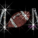 MoM - Football Rhinestone Iron on Transfer Hot Fix Bling Sports - DIY