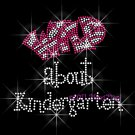 Wild about Kindergarten - FUCHSIA Rhinestone Iron on Transfer Hot Fix Bling School Grade Mom - DIY