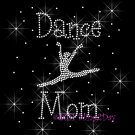 Dance Mom - Dancer C - Rhinestone Iron on Transfer Hot Fix Bling Sport - DIY