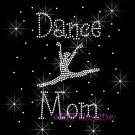 Dance Mom - Dancer C - Rhinestone Iron on Transfer Hot Fix Bling Sport - DIY
