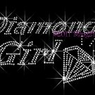 Diamond Girl - Rhinestone Iron on Transfer Hot Fix Bling - DIY