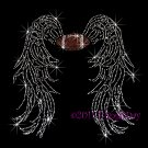 Angel Wings - Football Rhinestone Iron on Transfer Hot Fix Bling Sports - DIY