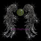 Angel Wings - Tennis Rhinestone Iron on Transfer Hot Fix Bling Sports - DIY