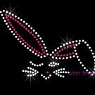Bunny Rabbit - Outline Rhinestone Iron on Transfer Hot Fix Bling Easter - DIY