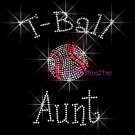 T-Ball Aunt - C Rhinestone Iron on Transfer Hot Fix Bling Sports - DIY