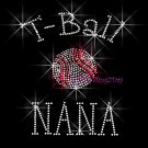 T-Ball NANA - C Rhinestone Iron on Transfer Hot Fix Bling Sports - DIY