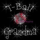 T-Ball Grandma - C Rhinestone Iron on Transfer Hot Fix Bling Sports - DIY