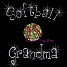 Softball Grandma - C Rhinestone Iron on Transfer Hot Fix Bling Sports - DIY