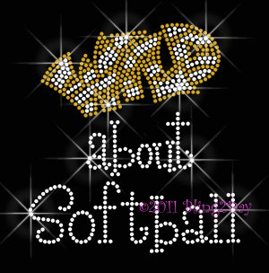 Wild about - Pick a Sport & Color for WILD - Rhinestone Iron on Transfer Hot Fix Bling - DIY