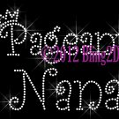 Pageant Nana - Rhinestone Iron on Transfer Hot Fix Bling Applique Royal Crown Queen - DIY