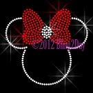 Minnie Mouse with Red Bow Rhinestone Iron on Transfer Hot Fix Bling Mom Kids - DIY