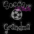 Soccer Grandma - C Rhinestone Iron on Transfer Hot Fix Bling Sports - DIY