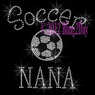 Soccer NANA - C Rhinestone Iron on Transfer Hot Fix Bling Sports - DIY