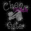 Cheer Sister - C Rhinestone Iron on Transfer Hot Fix Bling Sports - DIY
