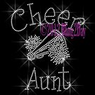 Cheer Aunt - C Rhinestone Iron on Transfer Hot Fix Bling Sports - DIY