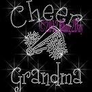 Cheer Grandma - C Rhinestone Iron on Transfer Hot Fix Bling Sports - DIY